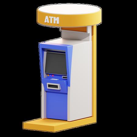 Atm Machine 3D Illustration