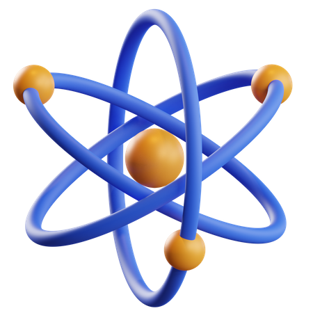 Atom 3D Illustration