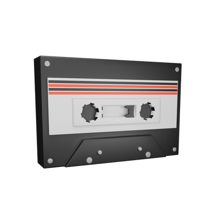 Audio Tape 3D Illustration