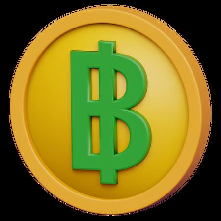 Baht Coin 3D Illustration
