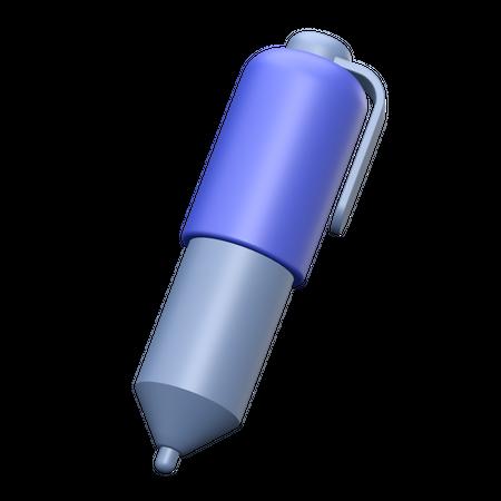 Ballpoint 3D Illustration