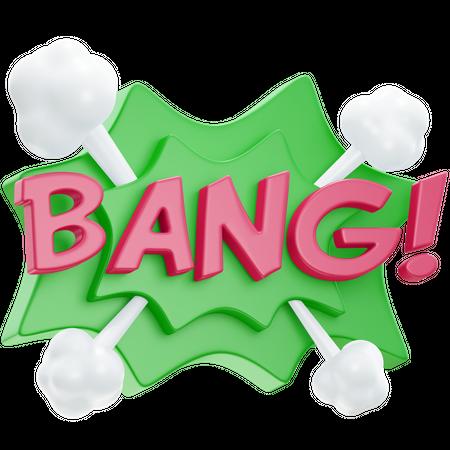 Bang 3D Illustration