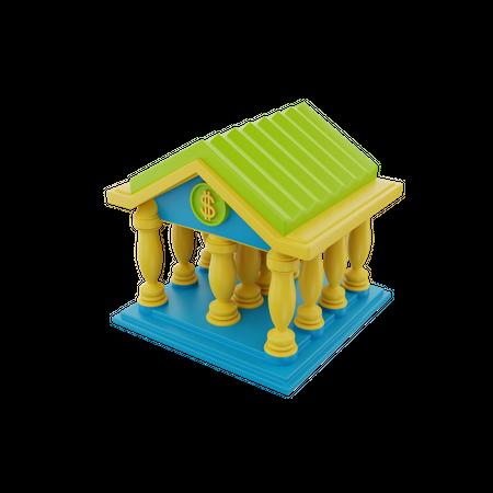 Bank 3D Illustration