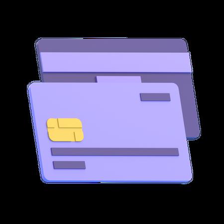 Bank Card 3D Illustration