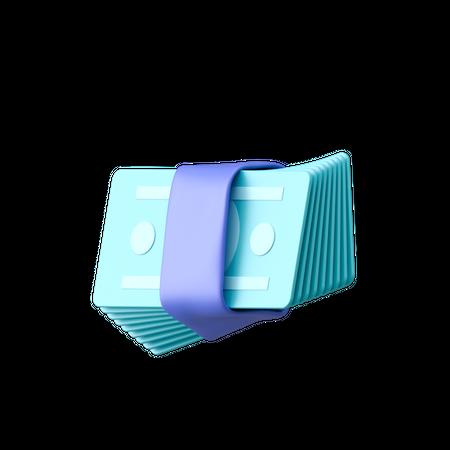Bank Cash 3D Illustration