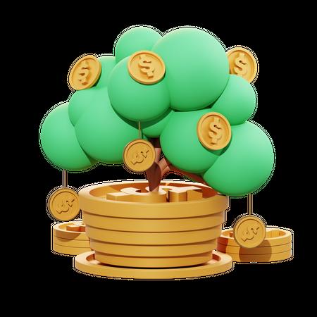 Bank Interest 3D Illustration