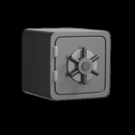 Bank Locker 3D Illustration