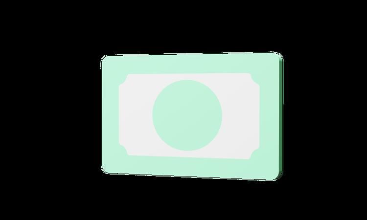 Bank Note 3D Illustration
