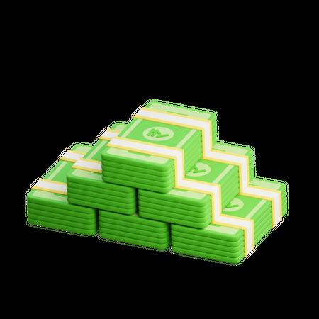 Bank Notes 3D Illustration