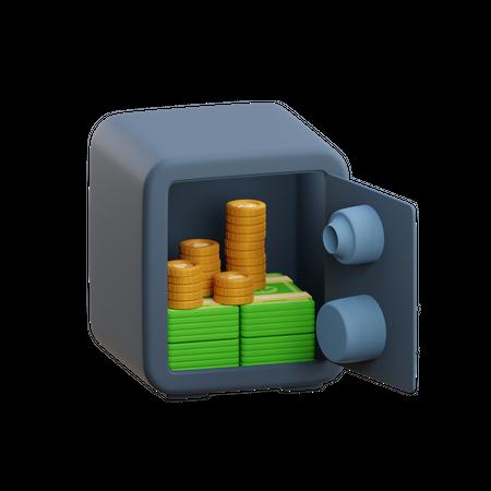 Bank Safe 3D Illustration
