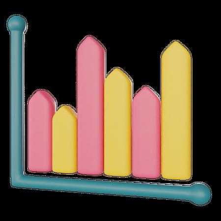 Bar Chart 3D Illustration
