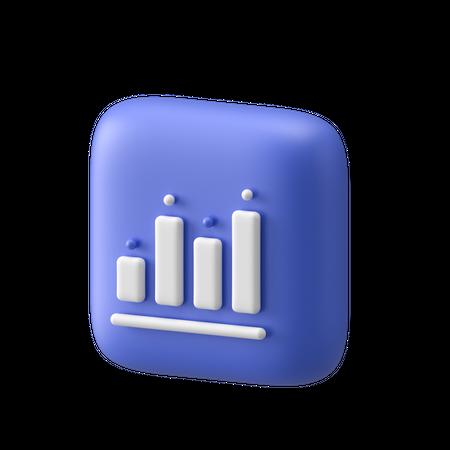 Bar Graph 3D Illustration