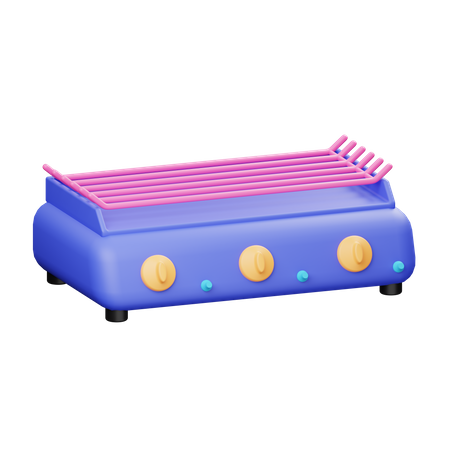 Barbecue Grill 3D Illustration