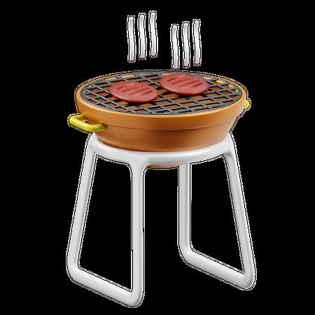 Barbeque 3D Illustration