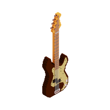 Bass 3D Illustration