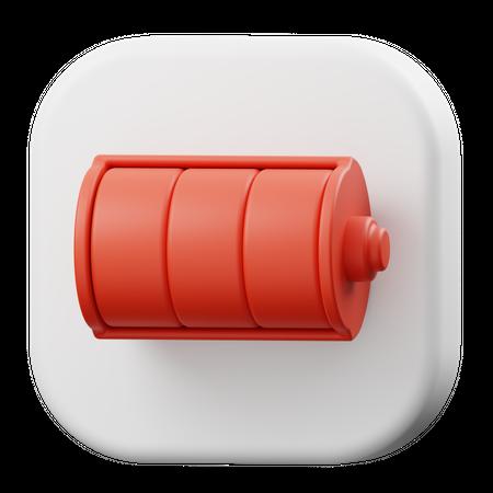 Battery Full 3D Illustration