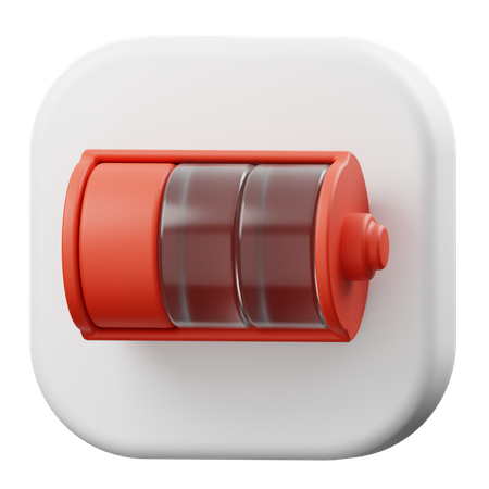 Battery Low 3D Illustration