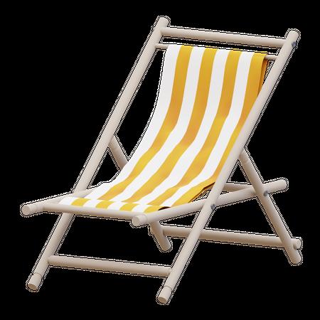 Beach Chair 3D Illustration