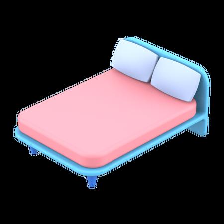 Bed 3D Illustration
