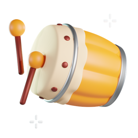 Bedug 3D Illustration