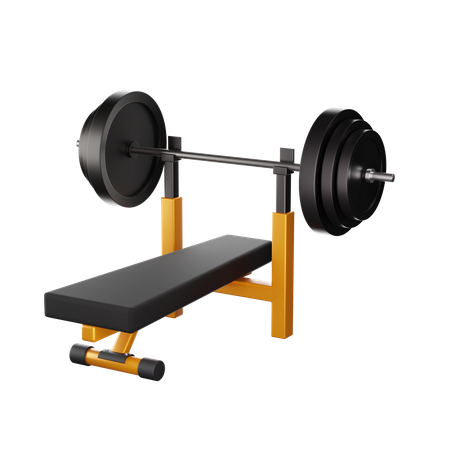 Bench Press 3D Illustration