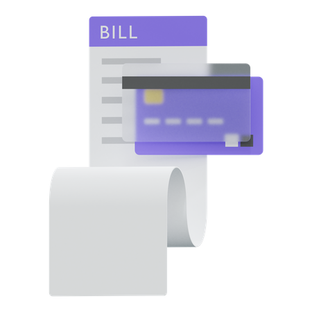 Bill Payment And Credit Card 3D Illustration