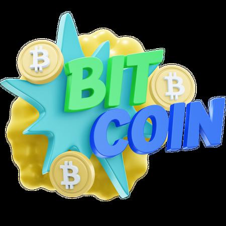 BIT-COIN 3D Illustration
