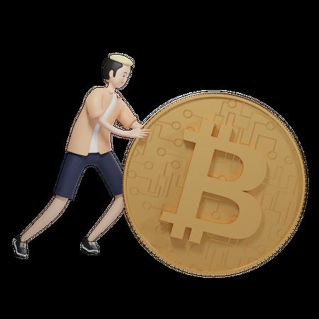 Bitcoin Agent 3D Illustration