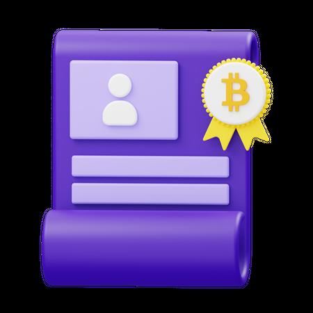 Bitcoin assignment 3D Illustration