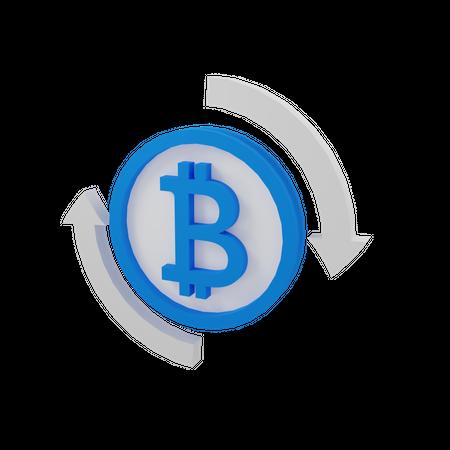 Bitcoin Flow 3D Illustration