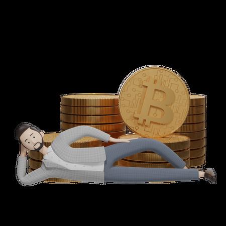 Bitcoin Investor 3D Illustration