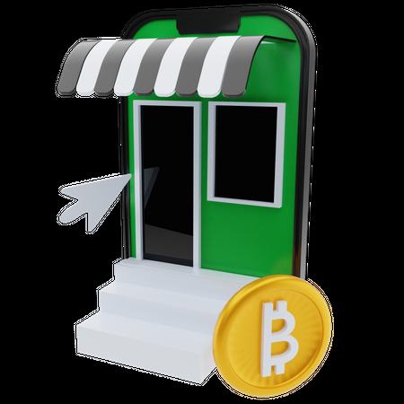 Bitcoin market 3D Illustration