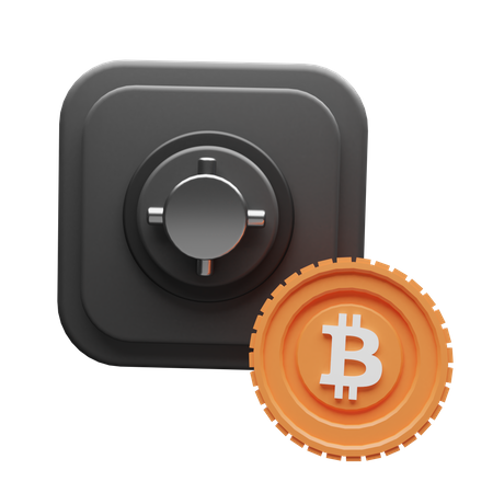 Bitcoin Safe 3D Illustration
