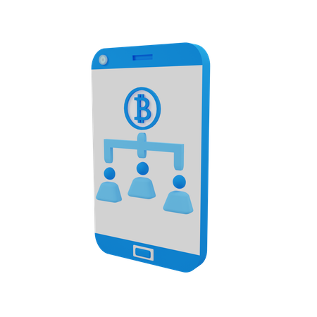 Bitcoin User Network 3D Illustration