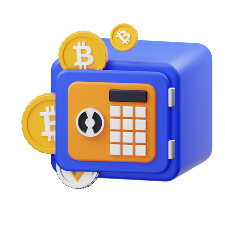 Bitcoin Vault 3D Illustration