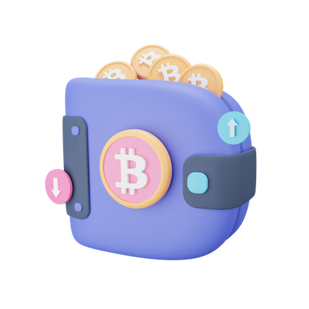 Bitcoin Wallet 3D Illustration