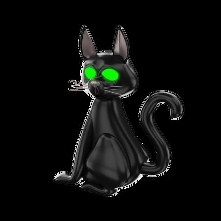 Black Cat 3D Illustration