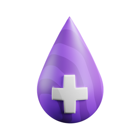 Blood Drop 3D Illustration