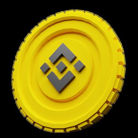BNB Binance Coin 3D Illustration
