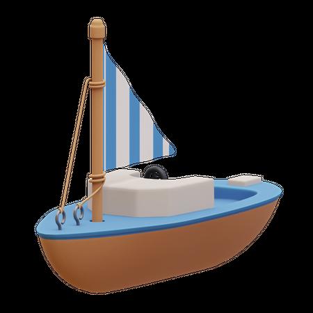 Boat 3D Illustration