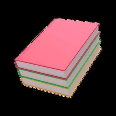 Books 3D Illustration