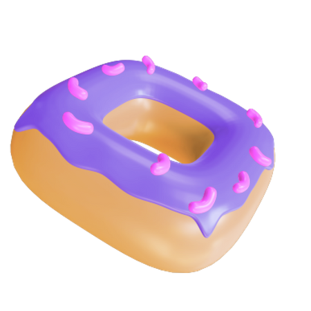 Box Donut 3D Illustration