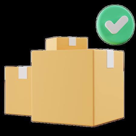 Box Package 3D Illustration