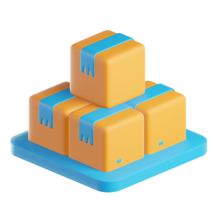 Box Storage 3D Illustration
