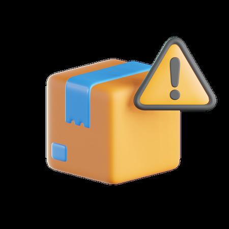Box Warning Sign 3D Illustration