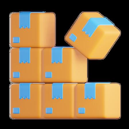 Boxes 3D Illustration