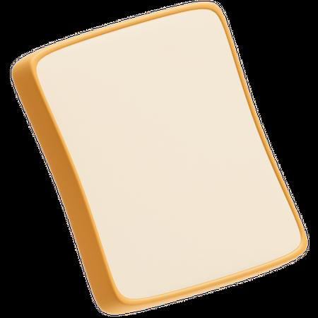 Bread slice 3D Illustration