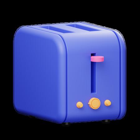 Bread Toaster 3D Illustration