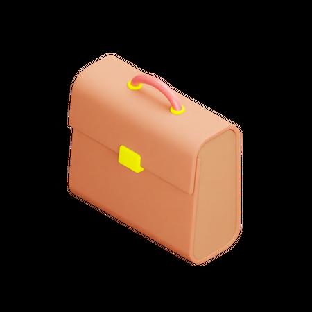 Briefcase 3D Illustration