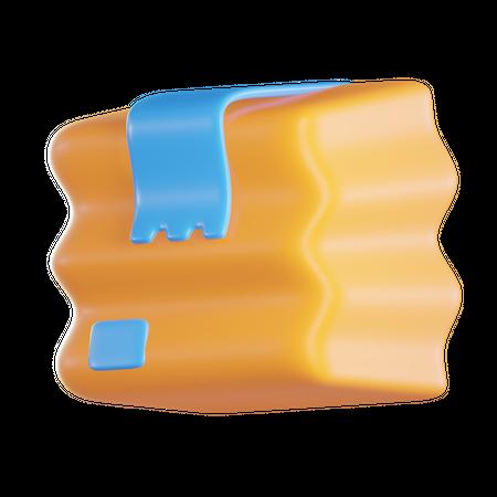 Broken Box 3D Illustration